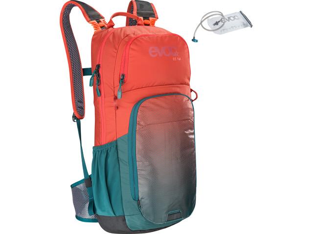 EVOC CC Lite Performance Backpack 16l + Bladder 2l chili red/petrol